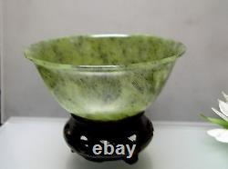 Vieux Jade Antique Chinois Normal De Pièce De Collection De Cuvette Mince De Jade