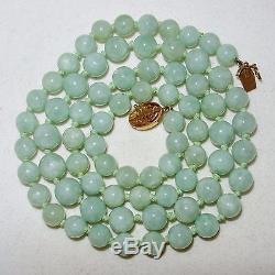 """Nouveau 8x12MM Nature Lavande Jade Pierres Précieuses Perles Collier 18/"""" 925 Fermoir Argent"""