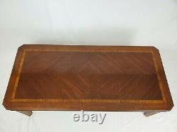 Vintage Lane Chinois Chippendale Table Basse Walnut Wood 11257