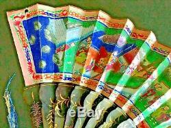 Xixe Siècle, Chine, Canton Chinois, Cent Faces, Éventail En Papier Laqué