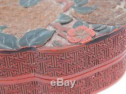 Xviiie Siècle, Boîte Chinoise D'etudiantes En Cinabre Qianlong, Dynastie Qing Polychrome